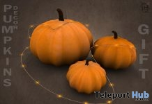 Pumpkins & Light String Halloween 2017 Gift by Boutique #187# - Teleport Hub - teleporthub.com