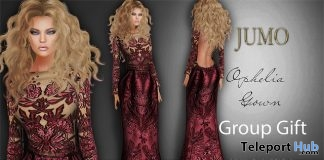 Ophelia Gown October 2017 Group Gift by JUMO - Teleport Hub - teleporthub.com