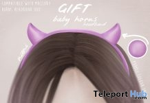 Baby Horns Headband The Secret Hideout October 2017 Event Gift by NANI - Teleport Hub - teleporthub.com