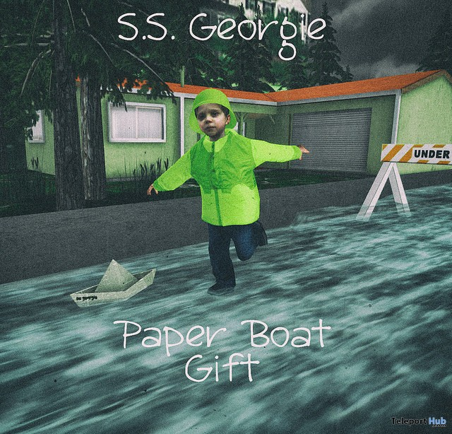 S.S. Georgie Paperboat WillowVale Halloween Ride Gift by Junk Food - Teleport Hub - teleporthub.com