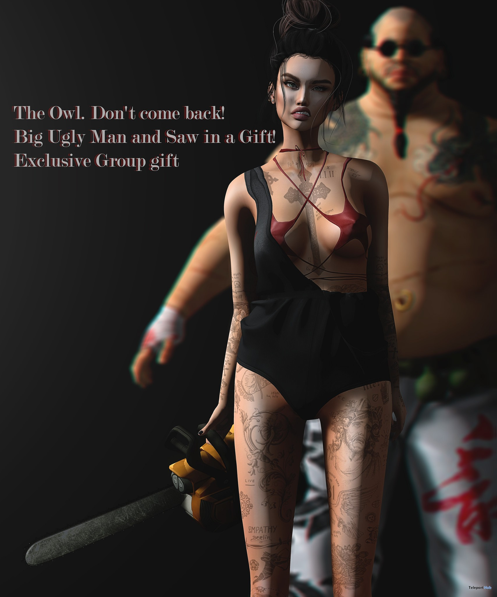 Don't Come Back Pose With Props Halloween 2017 Gift by The Owl - Teleport Hub - teleporthub.com