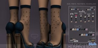 Mi Pumps & Socks Dark Blue October 2017 Group Gift by Pure Poison - Teleport Hub - teleporthub.com
