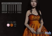 Dalila Dress 3 Colors October 2017 Group Gift by Pacagaia Creations - Teleport Hub - teleporthub.com