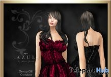 Red & Black Dress October 2017 Group Gift by AZUL - Teleport Hub - teleporthub.com