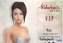 Mills Hair Fatpack October 2017 Group Gift by KoKoLoReS - Teleport Hub - teleporthub.com
