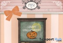 Happy Halloween Chalkboard October 2017 Group Gift by irrie's Dollhouse - Teleport Hub - teleporthub.com