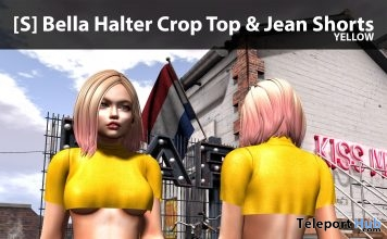 New Release: [S] Bella Halter Crop Top & Jean Shorts by [satus Inc] - Teleport Hub - teleporthub.com