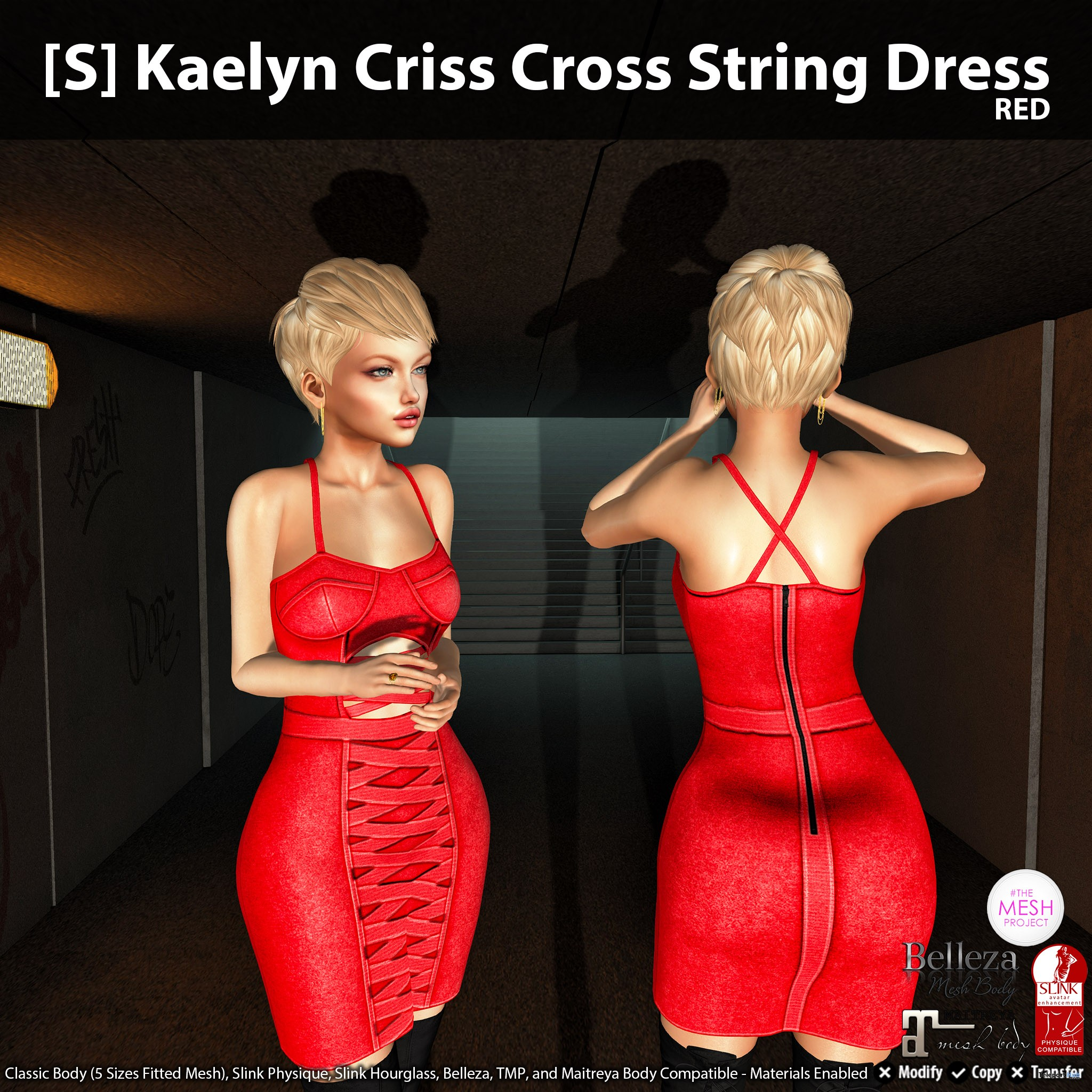 New Release: [S] Kaelyn Criss Cross String Dress by [satus Inc] - Teleport Hub - teleporthub.com
