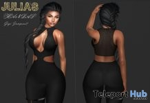 Gigi Jumpsuit Black & Red Group Gift by Julia's Scandal - Teleport Hub - teleporthub.com