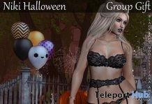 Niki Lingerie Set Halloween 2017 Group Gift by Blacklace - Teleport Hub - teleporthub.com