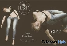 Gone Bento Pose 1L Promo Gift by Lily's Poses - Teleport Hub - teleporthub.com
