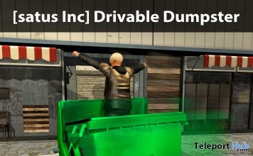 Drivable Dumpster Teleport Hub Group Gift by [satus Inc] - Teleport Hub - teleporthub.com
