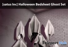 New Release: Halloween Bedsheet Ghost Set by [satus Inc] - Teleport Hub - teleporthub.com