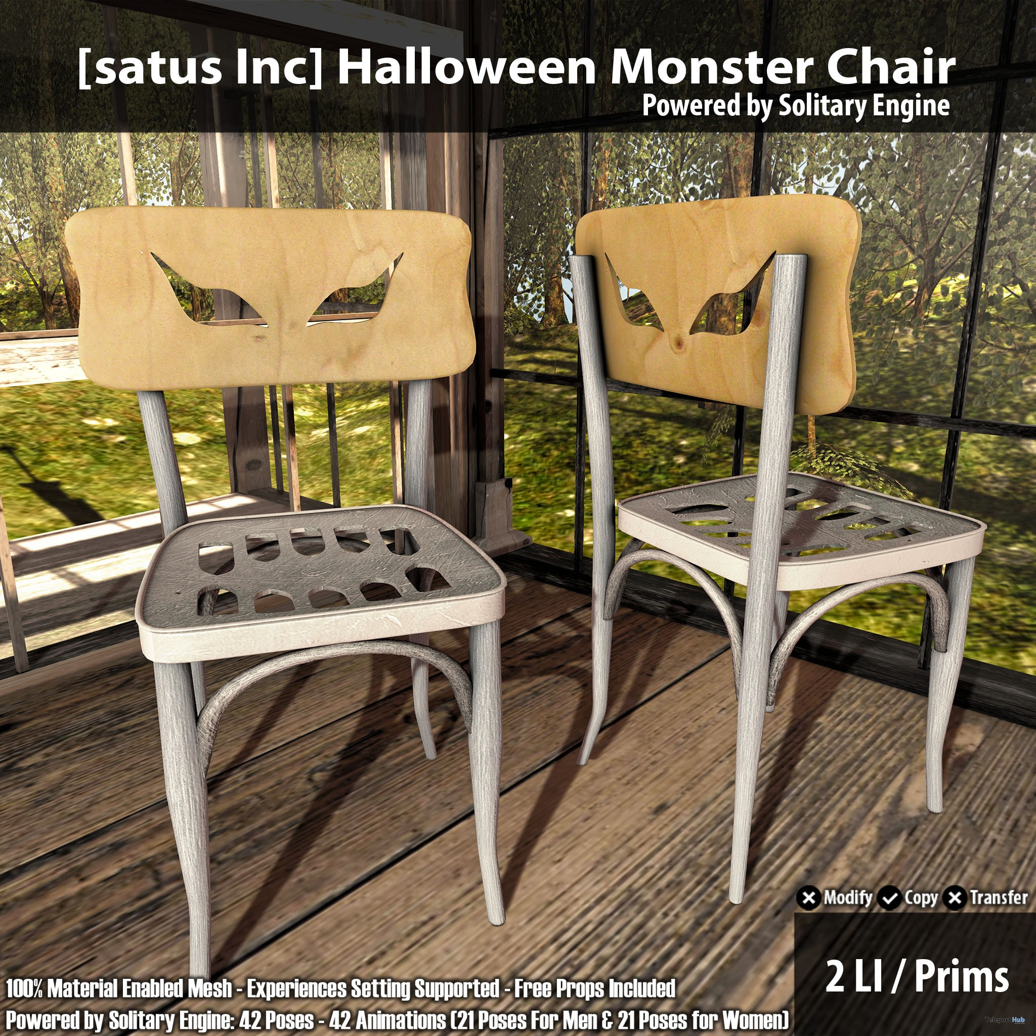 New Release: Halloween Monster Chair by [satus Inc] - Teleport Hub - teleporthub.com