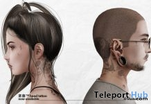 Saito Head Tattoo L'HOMME Magazine Limited Time Group Gift by Bolson - Teleport Hub - teleporthub.com