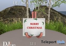 Candy Cane Postcard Holder Shiny Shabby November 2017 Gift by Shutter Field - Teleport Hub - teleporthub.com