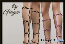 Ginger Sandals November 2017 Group Gift by Legendaire - Teleport Hub - teleporthub.com