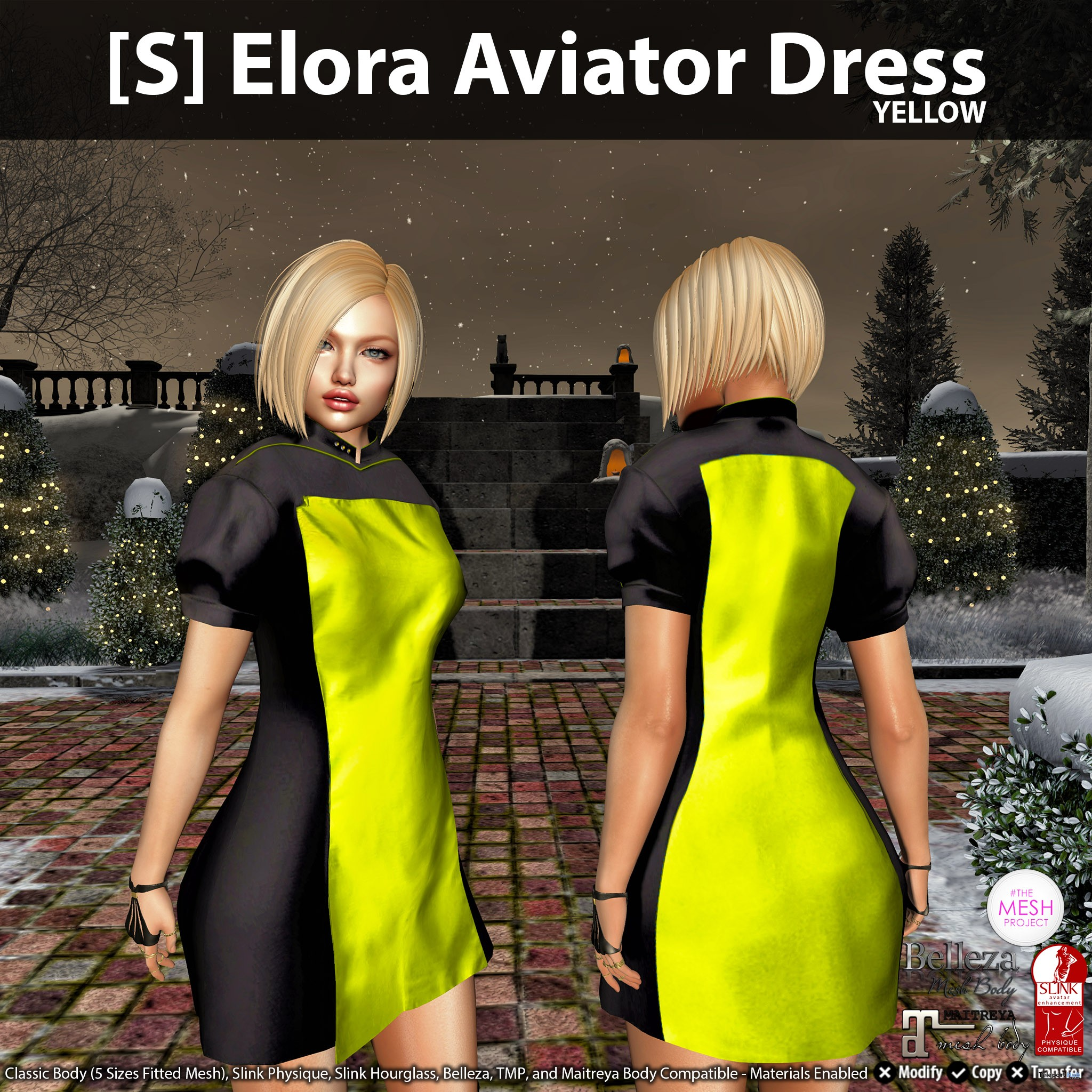 New Release: [S] Elora Aviator Dress by [satus Inc] - Teleport Hub - teleporthub.com