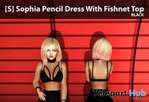 New Release: [S] Sophia Pencil Dress With Fishnet Top by [satus Inc] - Teleport Hub - teleporthub.com