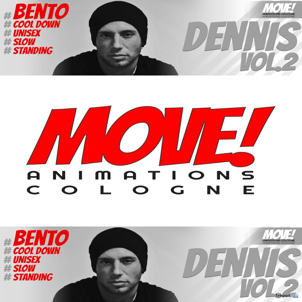 New Release: Dennis Vol 2 Bento Dance Pack by MOVE! Animations Cologne - Teleport Hub - teleporthub.com