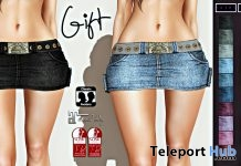 Denim Skirt with Belt 1L Promo Gift by Millenaire - Teleport Hub - teleporthub.com