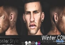 Winter Combo: Beard & Face Tattoo Hipster Men November 2017 Group Gift by Hipster Style - Teleport Hub - teleporthub.com