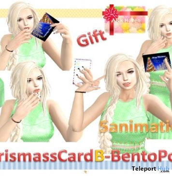 rChristmasCardB Pack of 5 Bento Poses Gift by A&R Haven - Teleport Hub - teleporthub.com