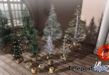 Winter Christmas Trees & Pumpkins December 2017 Group Gift by Fashionably Dead - Teleport Hub - teleporthub.com