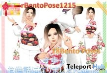 rBentoPose1215 Traditional Kimono 22 Bento Poses & HUD Gift by A&R Haven - Teleport Hub - teleporthub.com