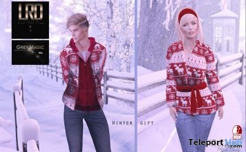 Simon Jacket With Hoodie & Kimmie Jacket December 2017 Group Gift by Loud Rebel Design - Teleport Hub - teleporthub.com