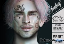 Lil Peep Face Tattoo December 2017 Group Gift by Speakeasy - Teleport Hub - teleporthub.com