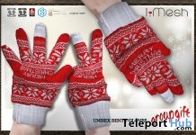 Unisex Bento Gloves Christmas 2017 Group Gift by i.mesh - Teleport Hub - teleporthub.com