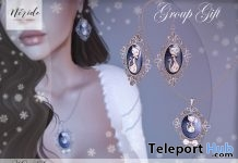 Kitty Set Necklace & Earrings Christmas 2017 Group Gift by Nerido - Teleport Hub - teleporthub.com