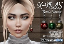 XMas Bauble Earrings December 2017 Group Gift by !NFINITY - Teleport Hub - teleporthub.com