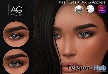 Twinkle Eyes & Mesh Eyes Appliers December 2017 Group Gift by Avi-Glam - Teleport Hub - teleporthub.com
