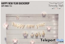 Happy New Year Backdrop Holiday 2017 Gift by Serenity Style - Teleport Hub - teleporthub.com