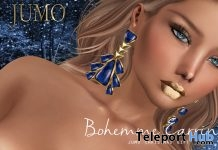 Bohemme Earrings Lazuli The Makeover Room December 2017 Gift by JUMO - Teleport Hub - teleporthub.com