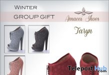 Taryn Shoes Winter December 2017 Group Gift by Amacci - Teleport Hub - teleporthub.com