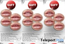 Unisex Default Lips Installers For Bento Heads Group Gift by CATWA - Teleport Hub - teleporthub.com
