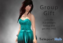 Holiday Dress Blue December 2017 Group Gift by JLZ Designs - Teleport Hub - teleporthub.com