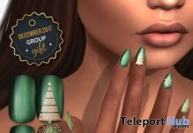 Xmas Gold & Green Nail Appliers December 2017 Group Gift by LIVIA - Teleport Hub - teleporthub.com