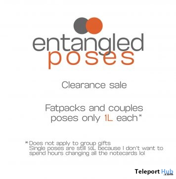 Fatpacks and Couples Poses Clearance Sale 1L Promo by Entangled Poses - Teleport Hub - teleporthub.com