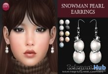 Snowman Pearl Earrings Christmas 2017 Gift by Izzie's - Teleport Hub - teleporthub.com