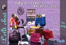 My Leather Briefcase Black Shop & Hop Sale December 2017 Gift by Petit Chat - Teleport Hub - teleporthub.com