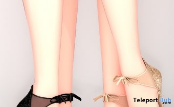 Glitter Holiday Heels 12 Days of Reignmas 2017 Day 1 Group Gift by REIGN - Teleport Hub - teleporthub.com