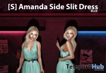 New Release: [S] Amanda Side Slit Dress by [satus Inc] - Teleport Hub - teleporthub.com