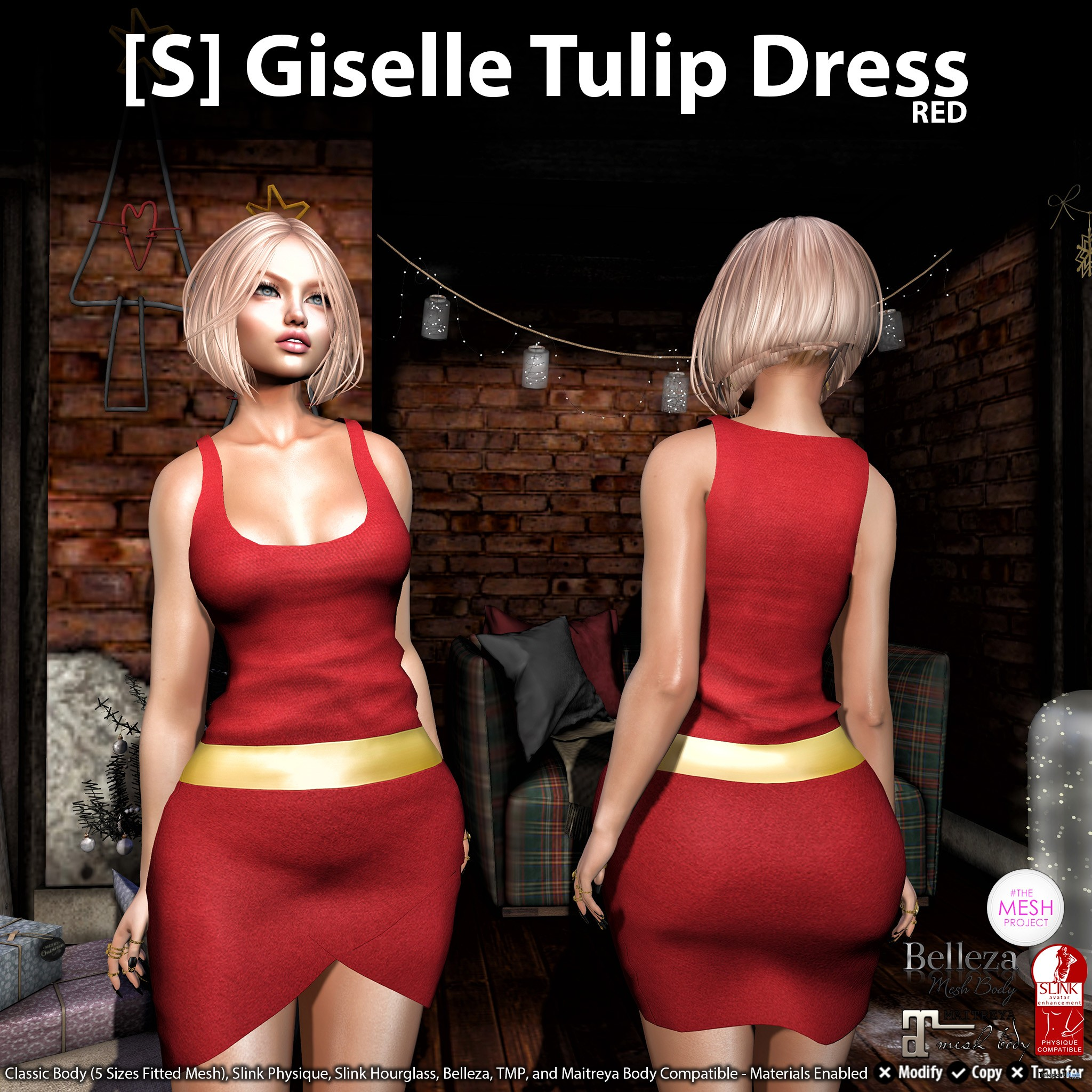 New Release: [S] Giselle Tulip Dress by [satus Inc] - Teleport Hub - teleporthub.com