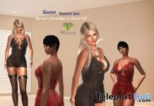 Susy Lace Romper December 2017 Group Gift by Resun Fashion Design - Teleport Hub - teleporthub.com