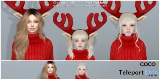Oversized Sweater, Knitted Leggings, & Raindeer Headband Christmas 2017 Group Gift by COCO Designs - Teleport Hub - teleporthub.com