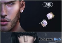 Diamond Collar & Square Diamond Earrings December 2017 Group Gift by TABOU - Teleport Hub - teleporthub.com